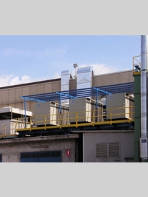 Roof-mounted Air-to-Water<br />Heat Exchanger<br />