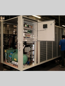 100-kW refrigeration unit with built-in screw compressor